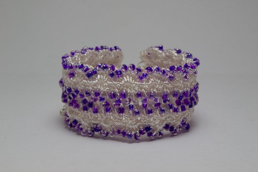 Purple Rocaille Cuff