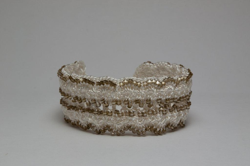 Soft Olive Crochet Bracelet